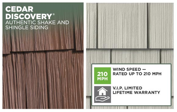 Vinyl shake and shingle siding.